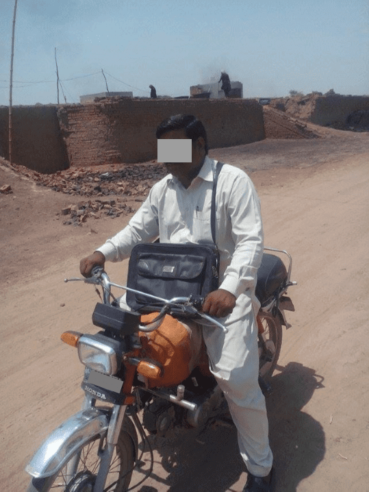 Mobile Sem - Teacher on motorcycle
